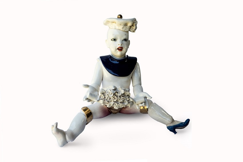 Mark-Thomspon-Tangled-Up-In-Gold-BMG-Art-porcelain-dolls-satire-brothers-grimm