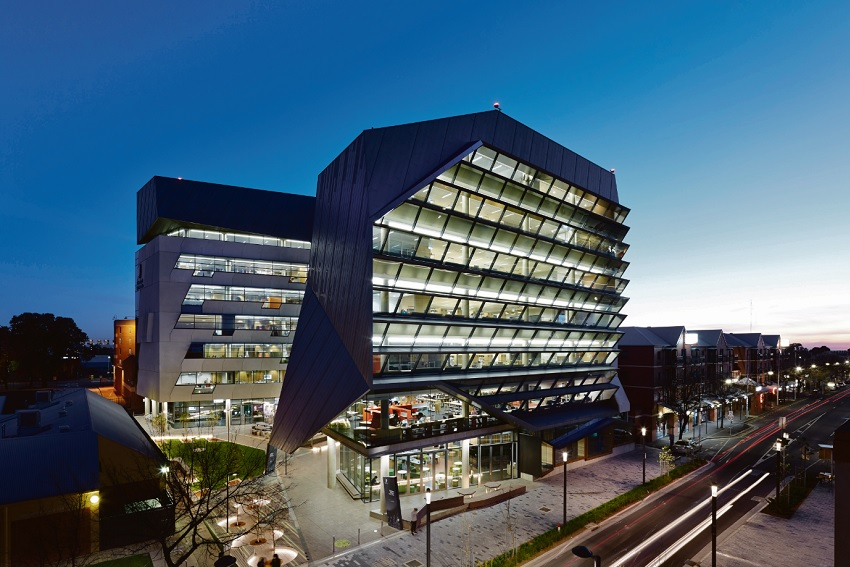 City-West-Campus-Precinct-Adelaide-Review-AIA-hindley-street-evening