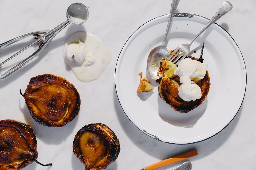 Food-For-Thought-Pear-Ice-Cream-Adelaide-Review-tatin-puff-pastry-poached-dessert
