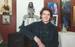 Angus Hamra with his Kennedy Prize winning portrait of Tkay Maidza