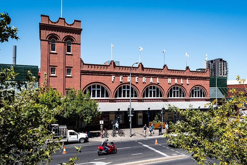 Adelaide Central Market Federal Hall Facade Conservation