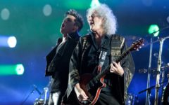 Brian May of Queen and Adam Lambert