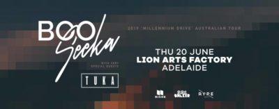 BOO Seeka in Adelaide Millennium Drive Tour