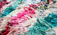 Fabric scraps cut into strips (Photo: Shutterstock / Nicole Takla Photography)