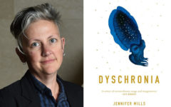 Jennifer Mills with her winning book Dyschronia (Photo: Miles Franklin/Belinda Rolland)