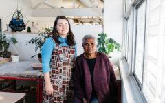 Ashlee Hopkins and Regina Pilawuk Wilson at JamFactory (Photo: Sia Duff)